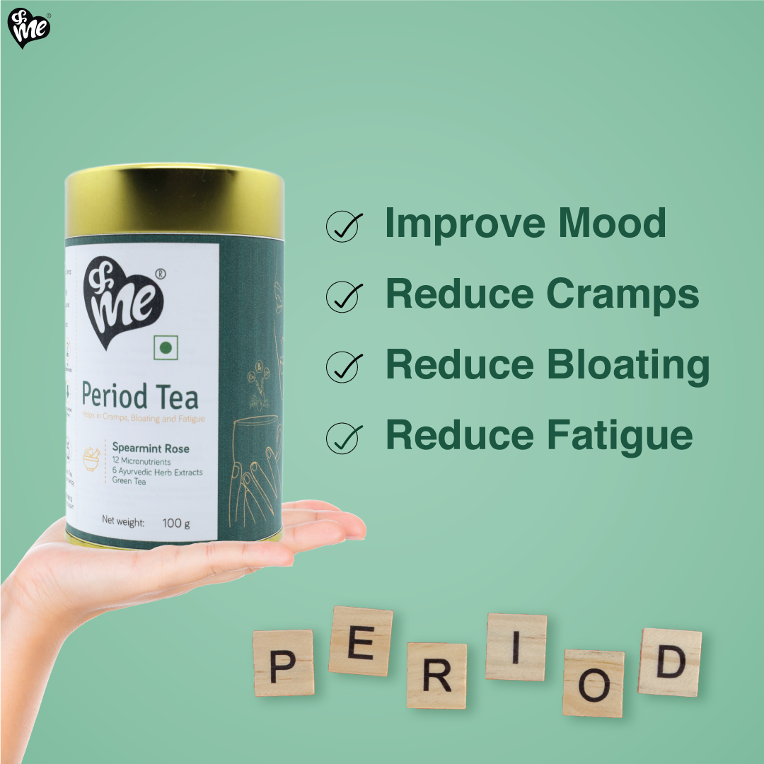 &Me period tea helps relieve period cramps naturally